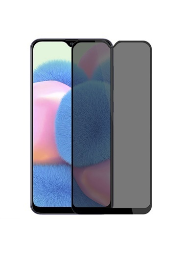 Microsonic Samsung Galaxy A30s Privacy 5D Gizlilik Filtreli Cam Ekran Koruyucu Siyah Siyah